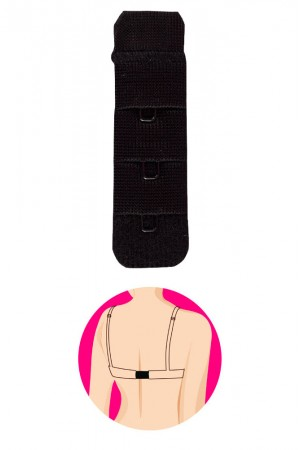 Gorteks rintaliivien 1-rivinen jatkopala, musta